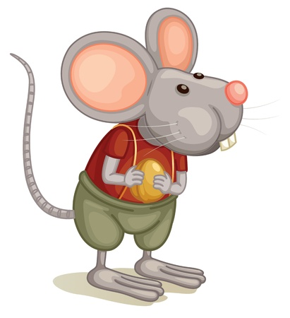 Illlustration of a cute mouse