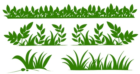 Illustration of grass silhouettes