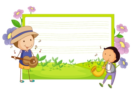 illustration of a music template