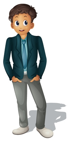 Ilustración de Illustration of businessman standing on white - Imagen libre de derechos