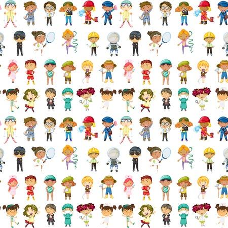 Illustration pour illustration of kids on a white background - image libre de droit