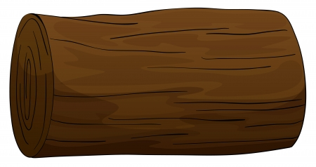 illustration of a timber on a white background