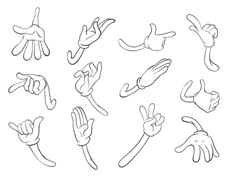 illustration of hand sketches on a white background