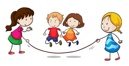 Illustration of a group skipping