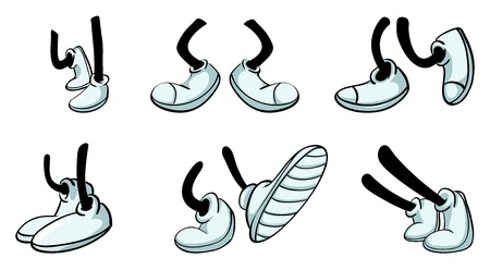 illustration of various legs with shoe