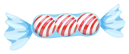 illustration of a red candy on a white background