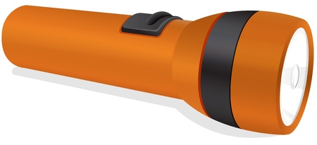 illustration of an orange torch on a white background