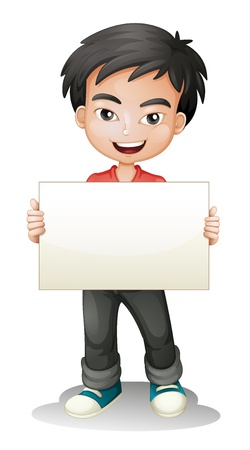 Illustration for illustration of a boy on a white background - Royalty Free Image