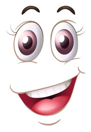 Illustration pour illustration of a face on a white background - image libre de droit
