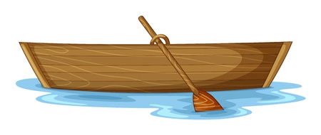 illustration of a boat on a white background
