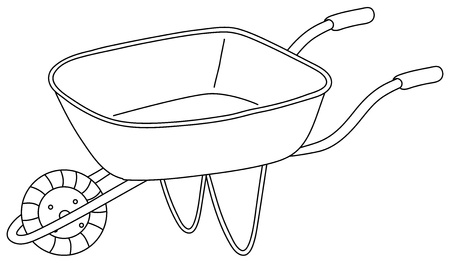 Illustration of a utility cart on a white background