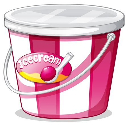 Illustration of an ice cream bucket on a white background