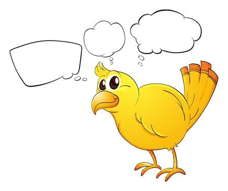 Illustration pour Illustration of a young bird on a white background - image libre de droit