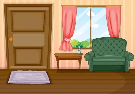 Illustration of furnitures inside the house