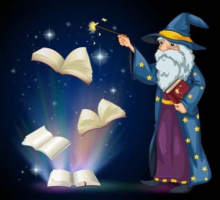 Old Wizard Illustration