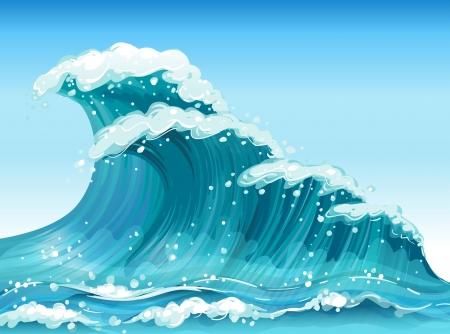 Illustration of the big waves