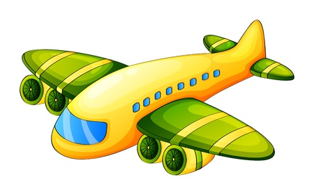 Illustration for Illustration of an airplane on a white background - Royalty Free Image