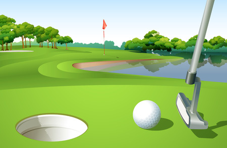 Illustration of a golf course