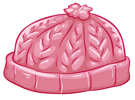Illustration for Illustration of a pink bonnet on a white background - Royalty Free Image