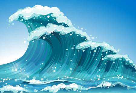 Illustration of a single wave