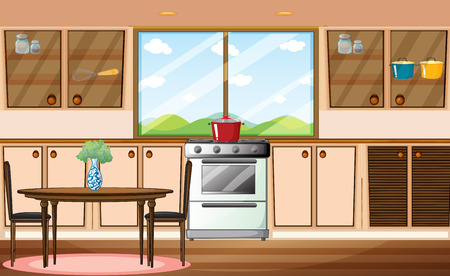 Illustration of a classic pantry