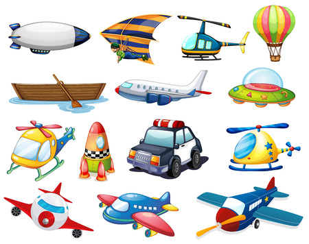 Photo for illustration of different kind of transportation - Royalty Free Image