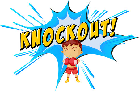 Knockout punch icon on white