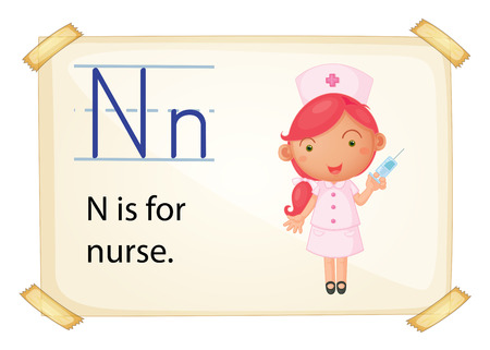Poster of and alphabet N
