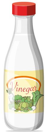 Illustration pour Illustration of a bottle of vinegar - image libre de droit