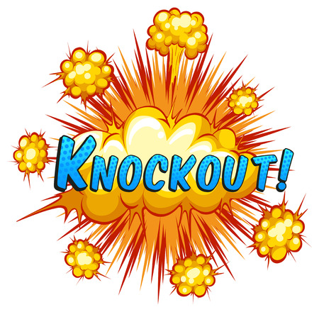 Knockout expression with cloud explosion background