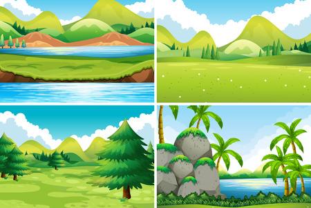 Foto de Four different beautiful scenes of nature - Imagen libre de derechos