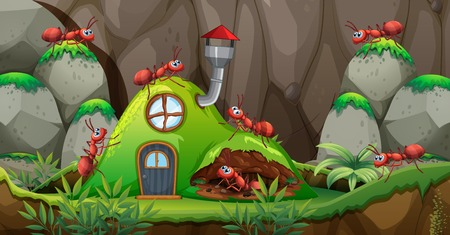 Illustration pour Any house in nature illustration - image libre de droit