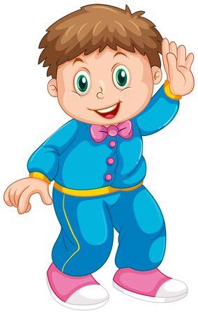 Ilustración de A cute boy character - Imagen libre de derechos