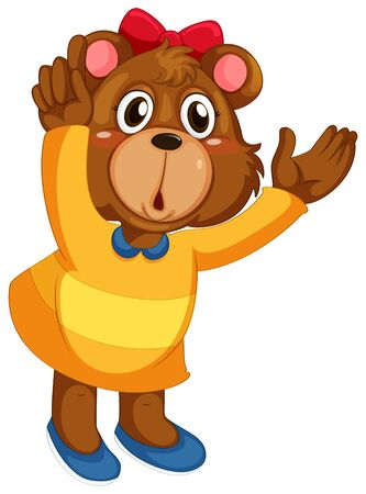 Photo pour A cute bear character - image libre de droit