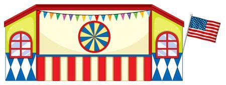 Illustration for Stage design at fun fair illustration - Royalty Free Image