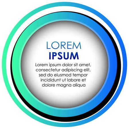 Illustration pour Circle blue gradient abstract banner template illustration - image libre de droit