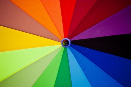 Spectrum colors on umbrella