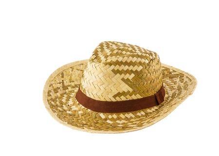 Foto de Woven hat isolated on white background - Imagen libre de derechos