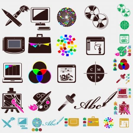 design set of icons