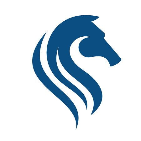 Illustration for Horse head logo. Sport team or club mascot. - Royalty Free Image