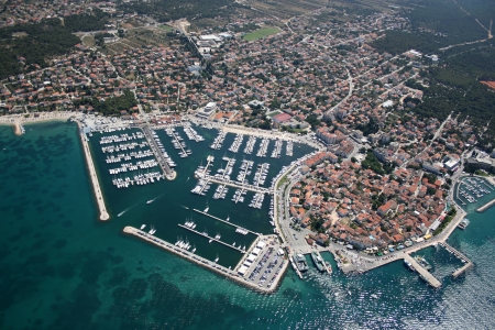 Biograd na moru, Adriatic sea, Croatia - Aerial photo