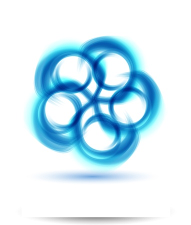 Illustration pour Vector abstract water and circle   bubbles - image libre de droit
