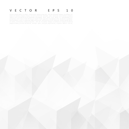 Illustration for Vector Abstract geometric shape from gray cubes. - Royalty Free Image