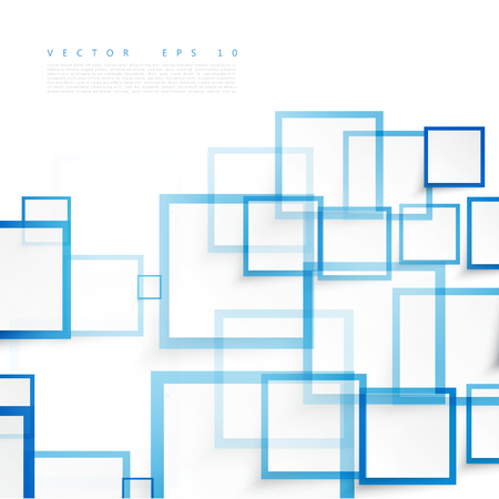 Illustration pour Vector blue squares. Abstract background. Sky blank - image libre de droit