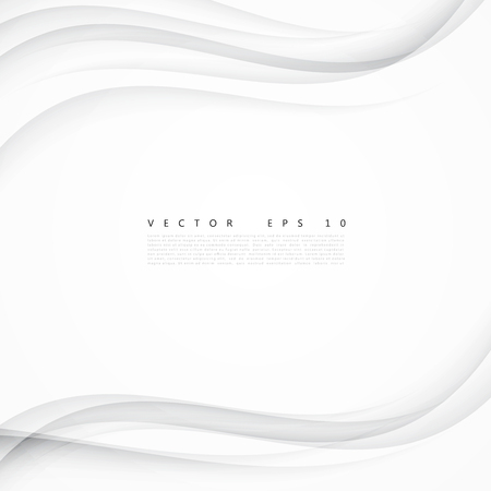 Illustration pour White background curve. Vector abstract White background design wavy. Brochure design templates collection and waving - image libre de droit