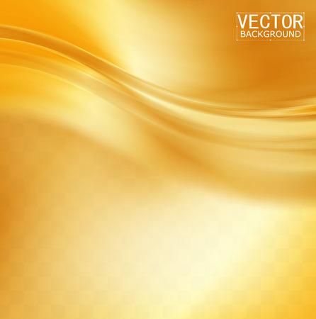 Ilustración de Vector Beautiful Gold Satin. Template brochure design - Imagen libre de derechos