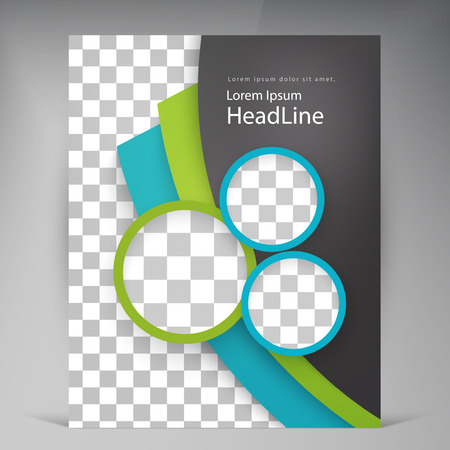 Illustration pour Abstract vector modern flyers brochure. Business brochure flyer design layout template in A4 circles - image libre de droit