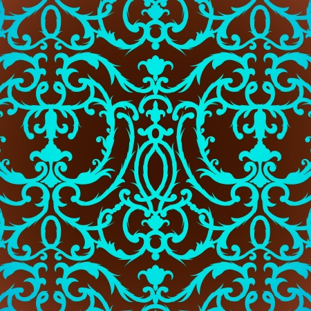 Damask thistle floral background pattern