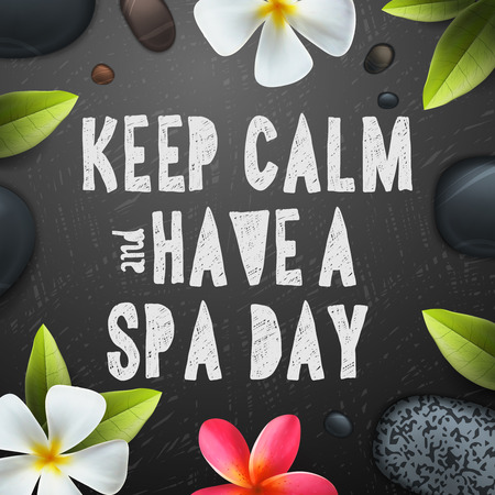 Keep calm have a Spa day, healthcare and beauty template for spa, vector illustration.