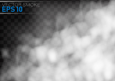 Illustration pour Fog or smoke isolated transparent special effect.Smoke or cloud effect on transparent background. Realistic fog.Vector illustration. - image libre de droit